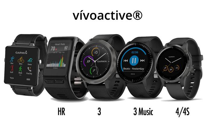 Serie relojes gps Garmin vivoactive, vivoactive hr, vivoactive 3, vivoactive 3 music y vivoactive 4/4S