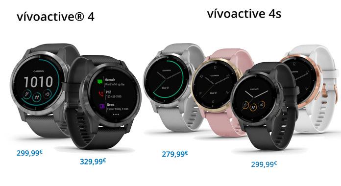 precios y versiones del vivoactive 4 y vivoactive 4S