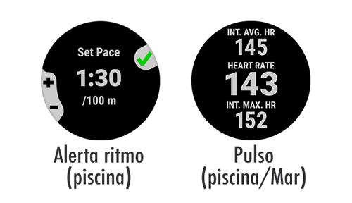 alertas de ritmo de nado y frecuencia cardíaca en el Garmin Swim 2