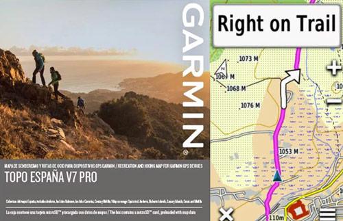 Mapa topografico Garmin TOPO España v7 PRO escala 1:25.000