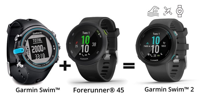 Comparativa Garmin Swim vs nuevo Garmin Swim 2 para nadadores