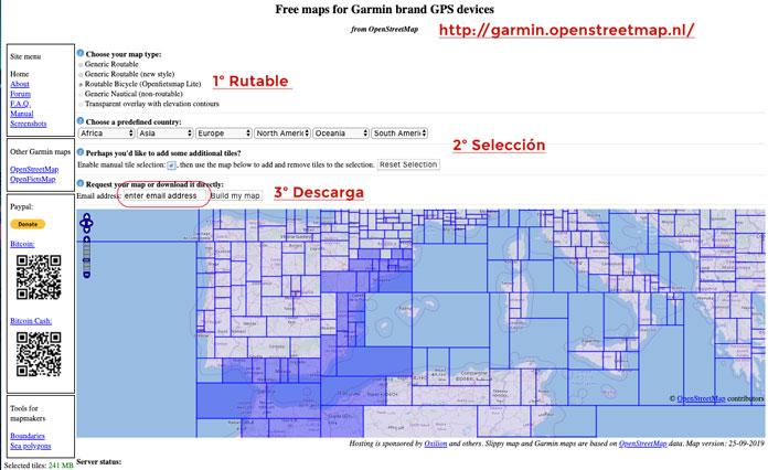 descargar mapas gratuitos Garmin
