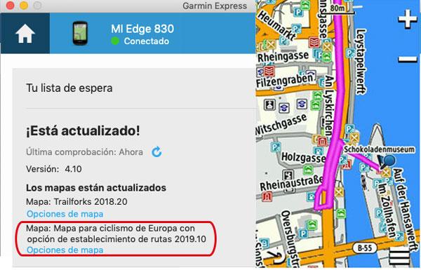 mapas cycle Map OSM en gps Garmin EDGE