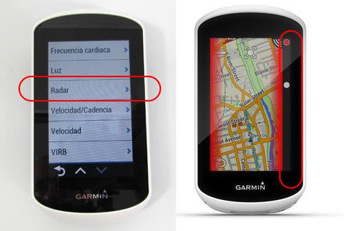 avisos radar varia en Garmin Edge Explore