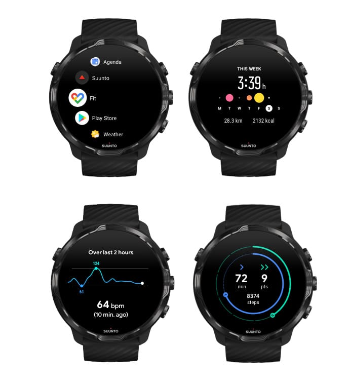 google fit en el smartwatch suunto 7