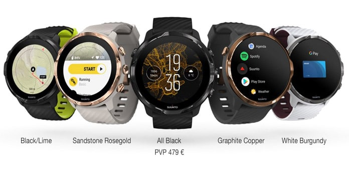 colores disponibles Suunto 7