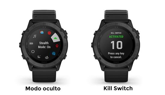 nuevas funciones tácticas de sigilo y kill switch del Garmin Tactix delta