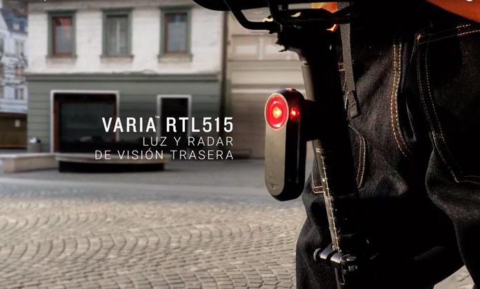 Luz y radar de visión Trasera Garmin Varia RTL515