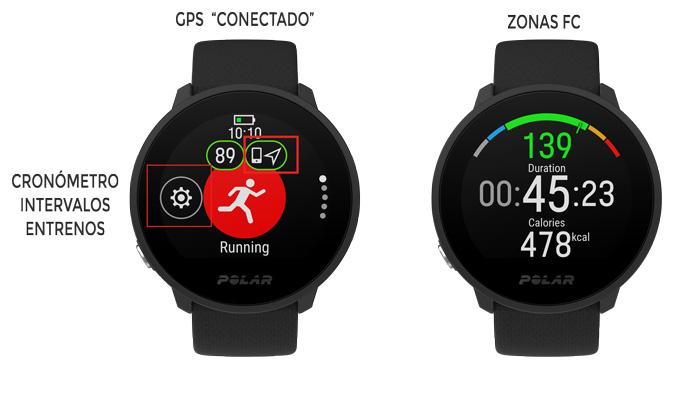GPS conectado y perfiles deportivos Polar Unite