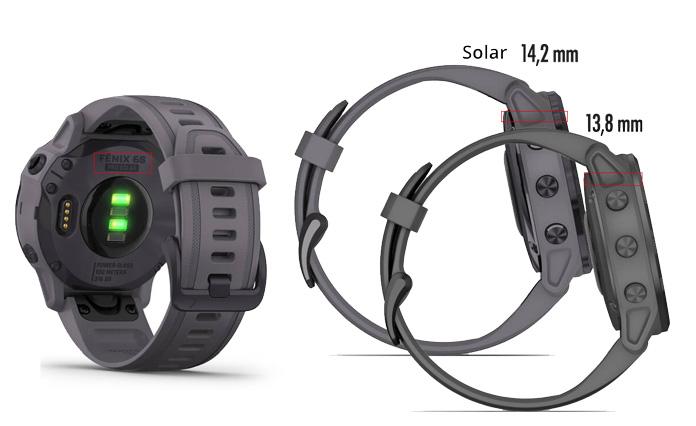 diferencias entre los modelos Fenix 6S Pro Solar y Fenix 6S Pro