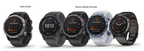 nuevos Garmin fenix 6 solar y fenix 6 Pro solar
