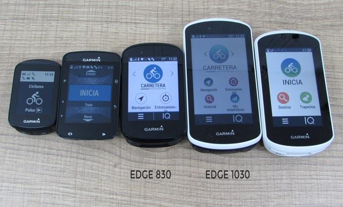 pantalla Garmin Edge 1030 vs Edge 830