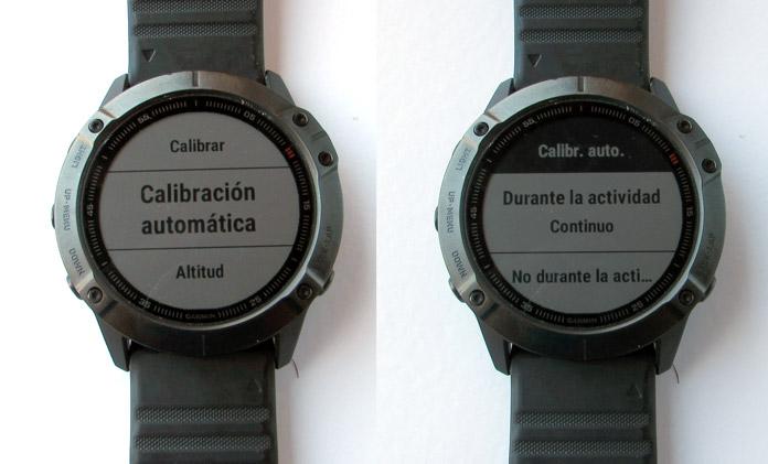 calibración automática del altímetro barométrico en relojes gps Garmin