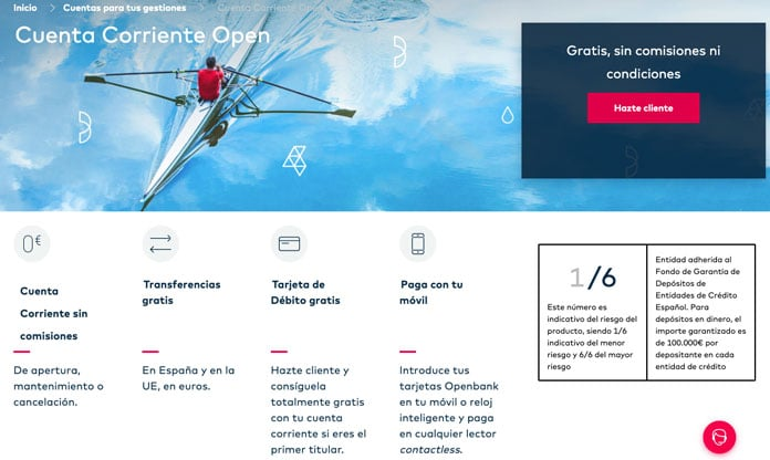 cuenta bancaria openbank tarjeta debito garmin pay