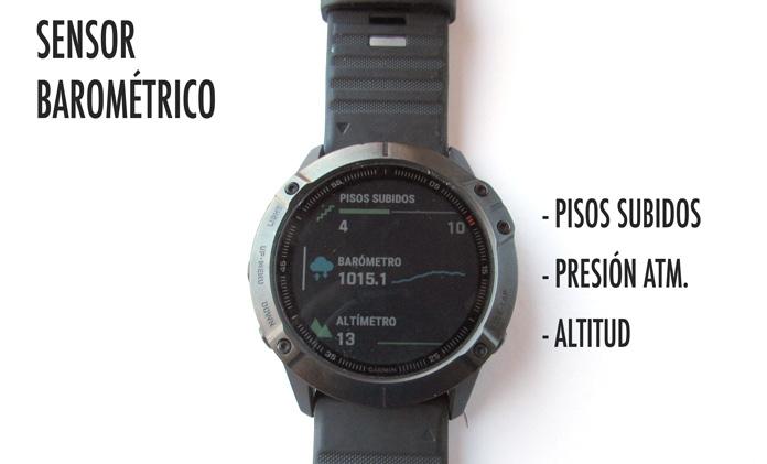 utilidades del sensor barométrico en relojes gps