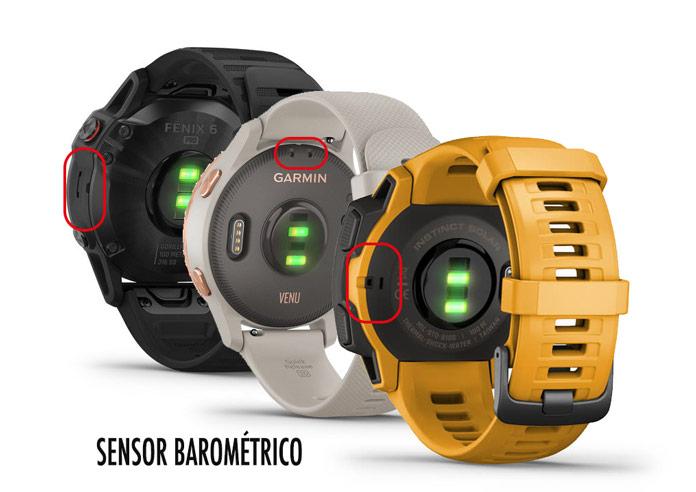 orificios en la caja del reloj del sensor barométrico