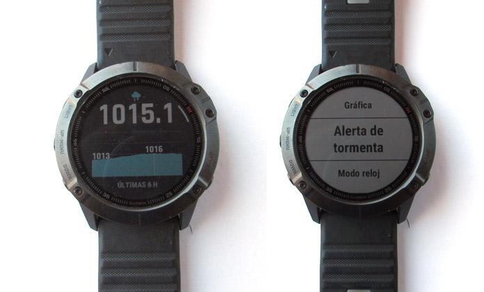 alerta de tormentas en relojes gps con sensor barométrico