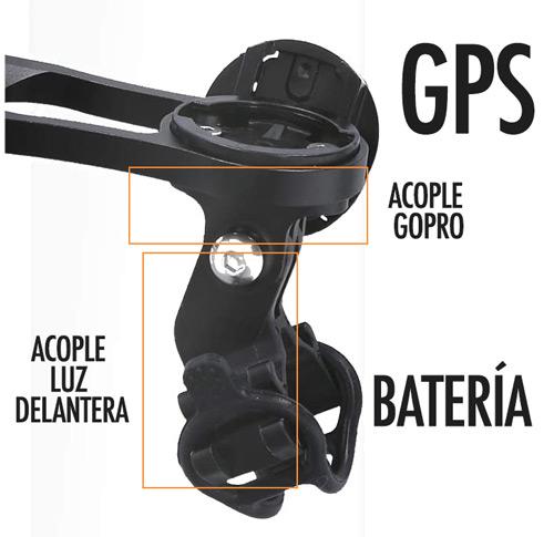 Acople flexible batería externa gps bicicleta