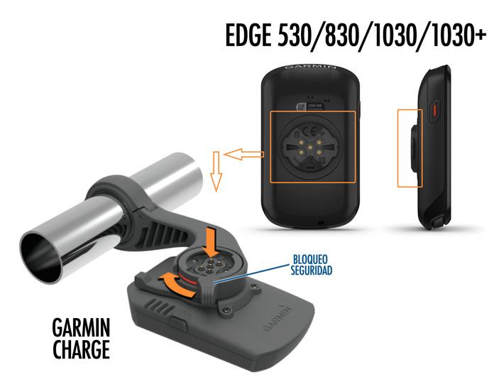 Sistema de acople batería Garmin Charge para Garmin Edge
