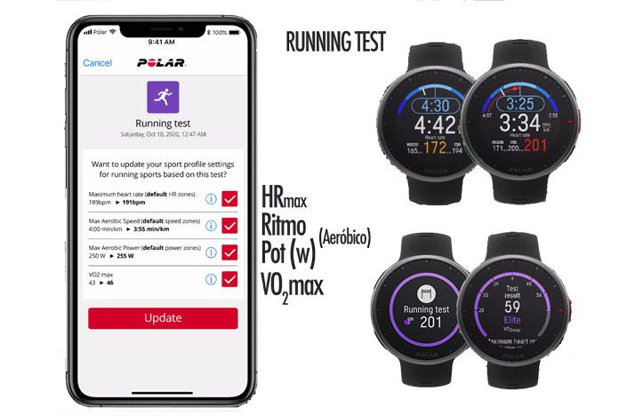 test running cálculo dde vo2max, ritmo de umbral de lactato y zonas de frecuencia cardíaca en Polar Vantage V2