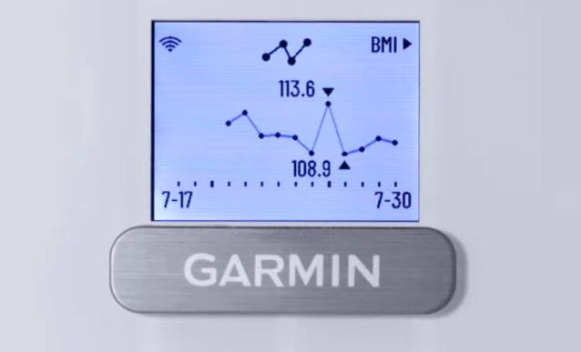 gráfico evolución peso báscula inteligente garmin index s2