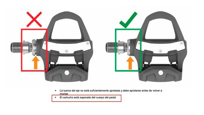 Ajuste cartucho pedal Vector 3