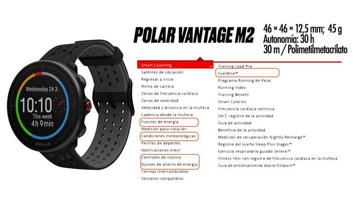 Diferencias Polar Vantage M2 vs Polar Vantage M