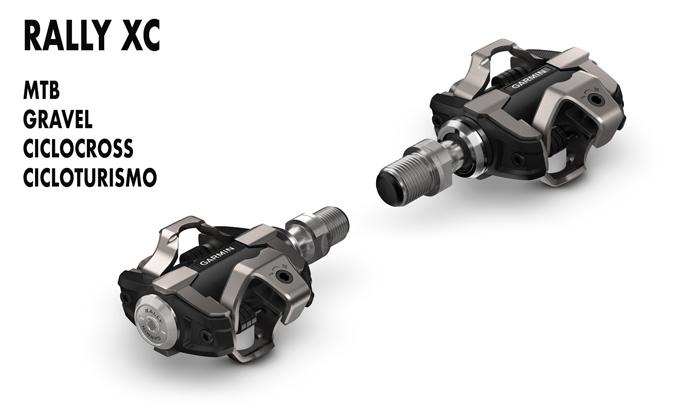 Pedales con sensor de potencia Rally XC para mtb, cicloturismo, ciclocross y gravel compatibles con calas SPD