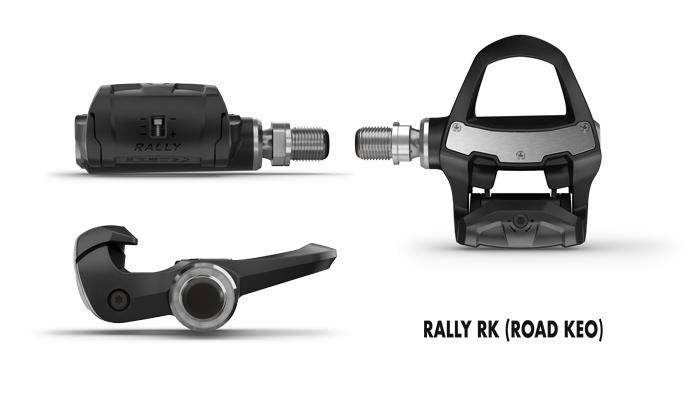 Potenciómetros de pedal Rally RK para ciclismo de carretera compatibles con calas Look KEO