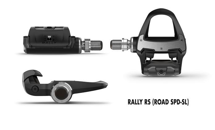 pedales con sensor de potencia Rally RS compatibles con las calas para ciclismo de carretera SPD-SL