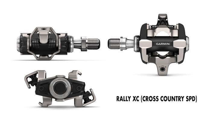 Pedales con sensor de potencia Rally XC para MTB compatibles con calas SPD