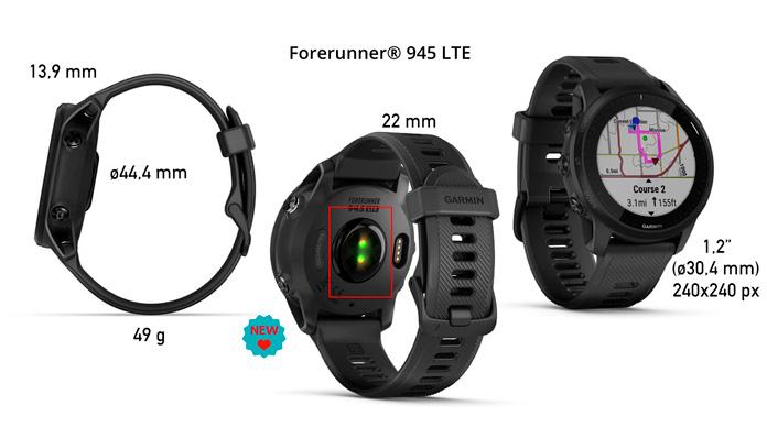 dimensiones Garmin Forerunner 945 LTE