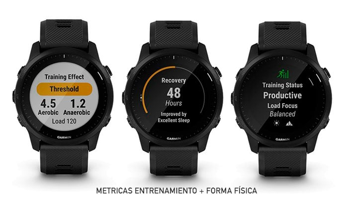 métricas de forma física avanzadas del Garmin Forerunner 945 LTE