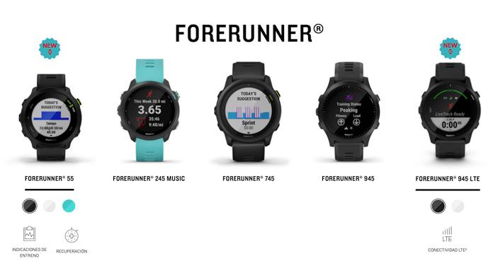 Serie Garmin Forerunner 2021: nuevos modelos Forerunner 55 y Forerunner 945 LTE