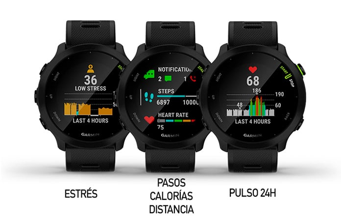 Funciones de monitor de actividad diaria del Garmin Forerunner 55