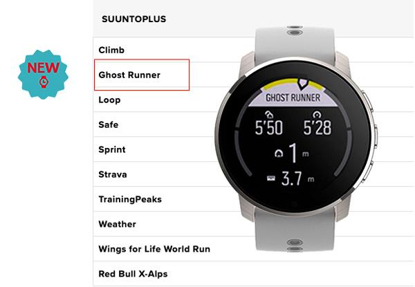 Nueva función de libre virtual Ghost Runner para el Suunto 9 Peak a través de Suunto Plus
