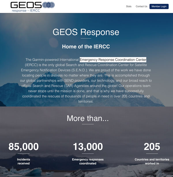 GEOS International Emergency Response Coordination Center by Garmin