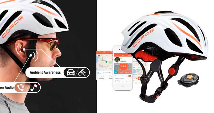 casco inteligente para ciclismo coros linx