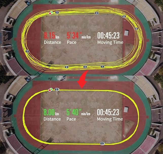 perfil para correr en pista de atletismo en relojes gps de coros